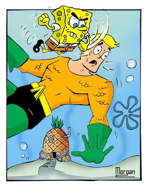 Spongebob_VS_Aquaman_by_MysticMorgan