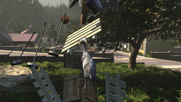 (Goat Simulator-PC) L'incontro definitivo tra Sgarbi e il Bug!