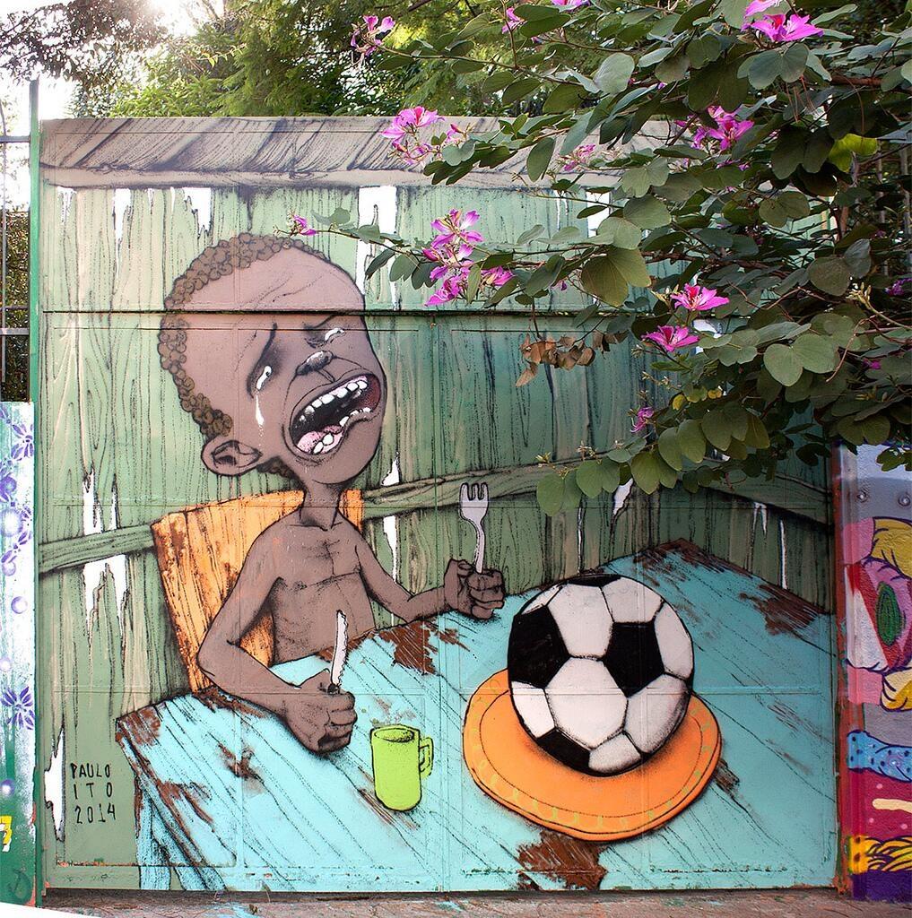 I migliori graffiti Brasiliani contro la World Cup