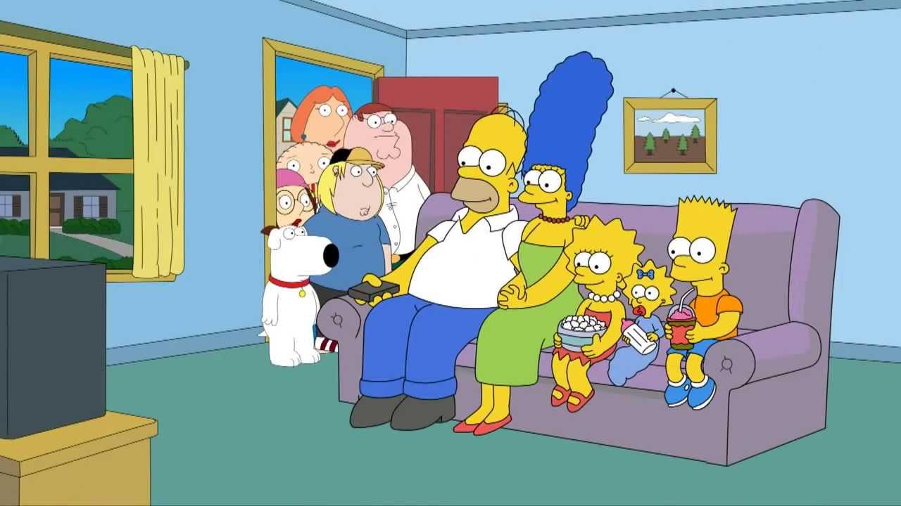 Lo storico incontro tra #Simpson e #Griffin