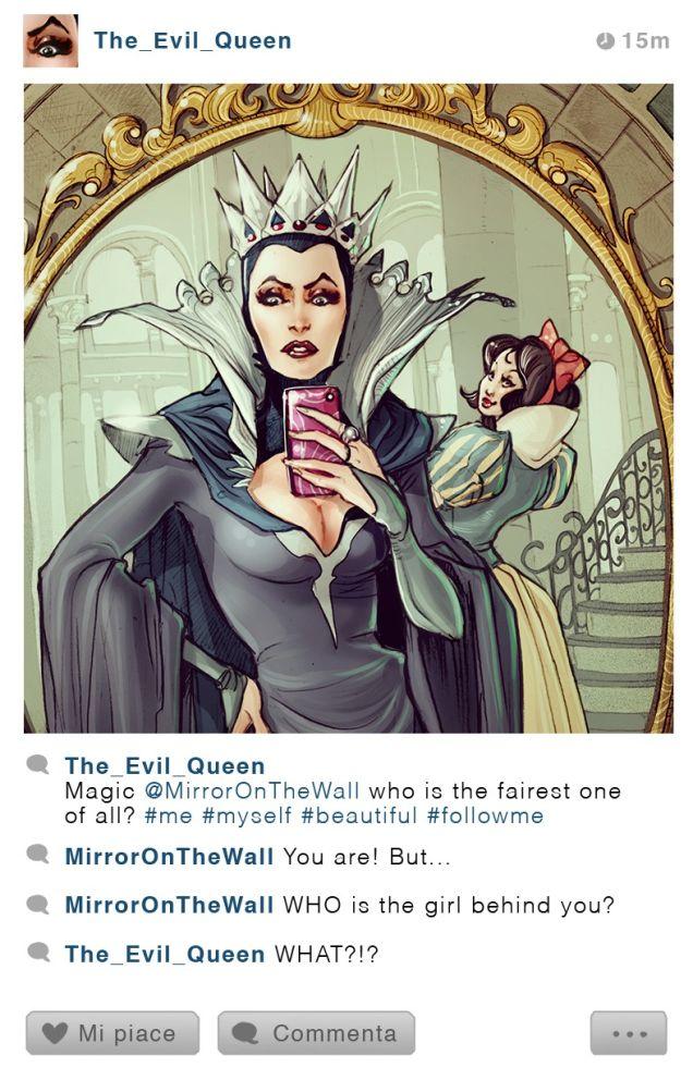 Come apparirebbe il profilo instagram di un personaggio Disney