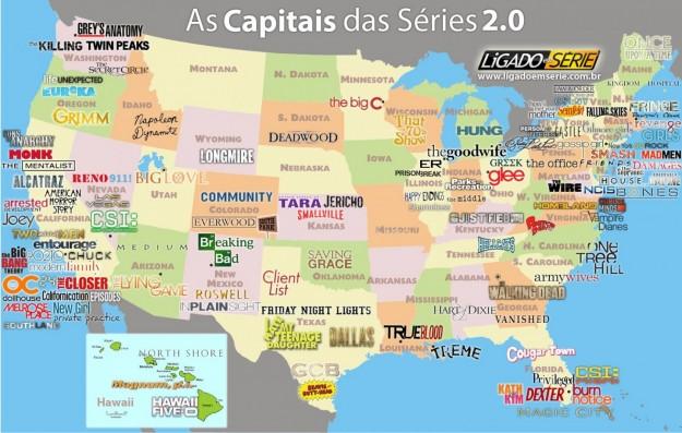 Cartina Mondo Hawaii.Questa E Una Mappa Geografica Delle Vostre Serie Tv Preferite Shifts Blog Intrattenimento Tecnologia E Lifestyle