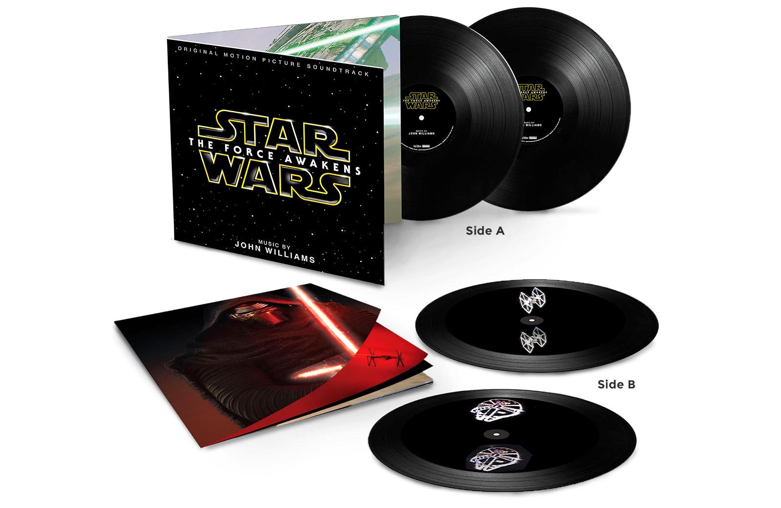 Il vinile della colonna sonora di Star Wars: Ep. VII riprodurrà ologrammi del Millennium Falcon!