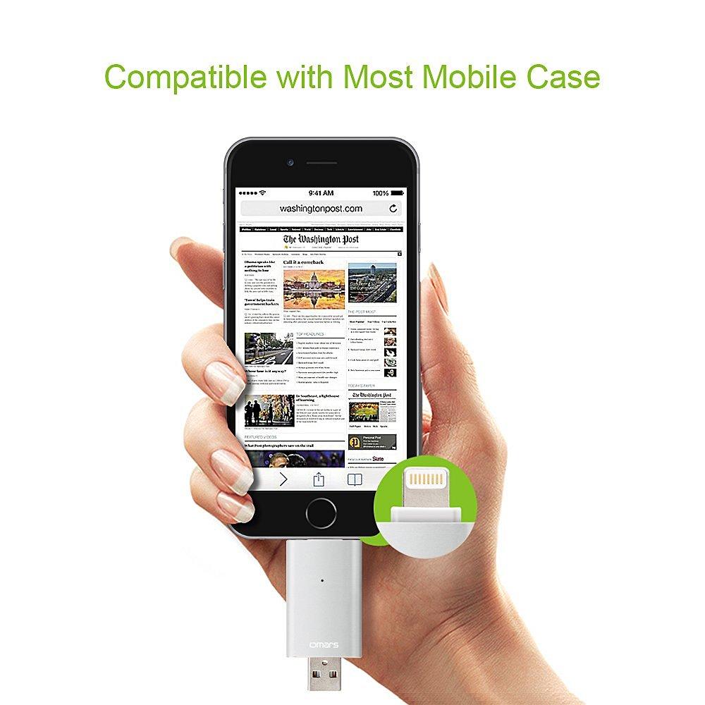 10% di sconto per l'acquisto di OMARS Flash Drive per iPhone e iPad, per scaricare foto e video direttamente dallo smartphone su penna usb
