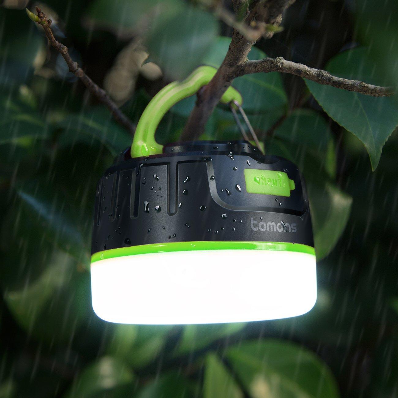Tomons CL2001 la lanterna da campeggio con power bank integrato