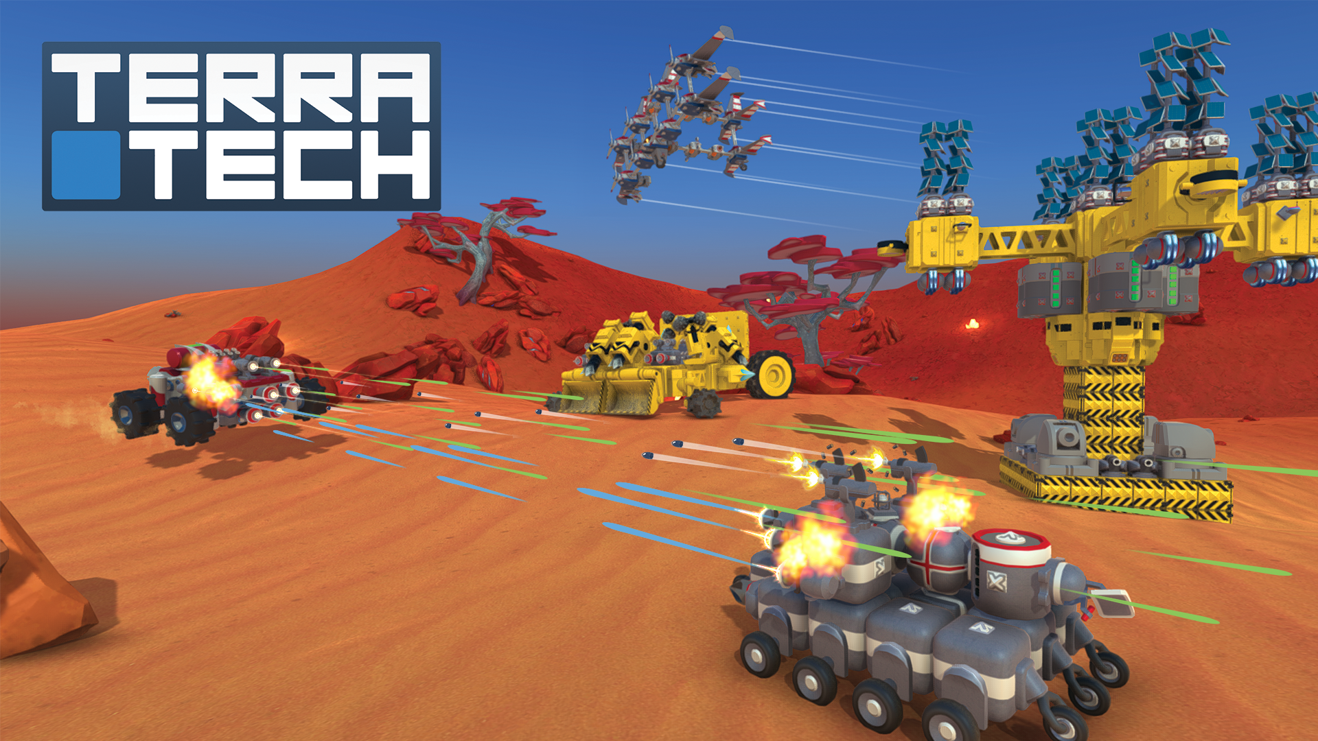 Costruisci il tuo veicolo definitivo, esplora le mappe e combatti in multiplayer con Terratech per Ps4