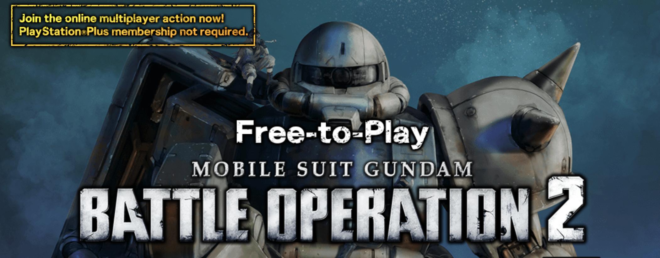 Mobile Suit Gundam Battle Operation 2 per PlayStation 4 è disponibile gratuitamente per il download e il gioco.